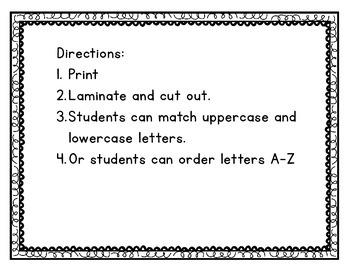 Pumpkin Alphabet Cards