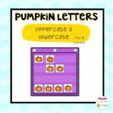 Pumpkin Alphabet Cards / Hide and Seek pocket chart games