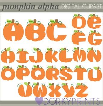Pumpkin Alphabet Clip Art