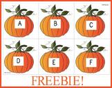 Pumpkin Alphabet Letter Cards (Freebie)