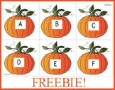 Pumpkin Alphabet Letter Cards (Freebie)