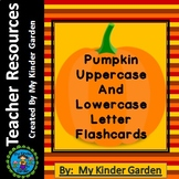 Pumpkin Alphabet Letter Flashcards Uppercase and Lowercase