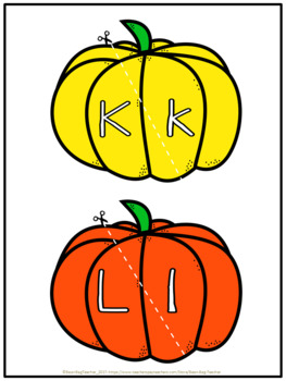 Pumpkin Alphabet Match | Upper and Lower Case