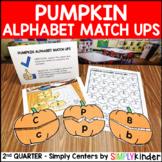 Pumpkin Alphabet Match Ups - Kindergarten Center - Simply Centers