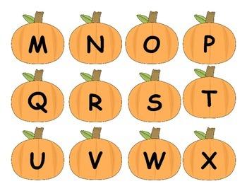 Pumpkin Alphabet Matching