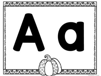 Pumpkin Alphabet Mats