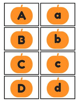 Pumpkin Alphabet Memory FREEBIE