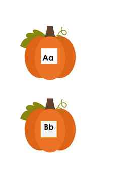 Pumpkin Alphabet Memory Game