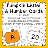 Pumpkin Alphabet & Number Cards