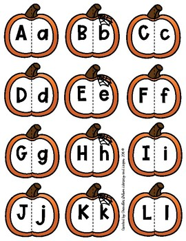Pumpkin Alphabet Puzzles DOLLAR DEAL