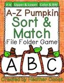 Pumpkin Alphabet Sort & Match File Folder Game