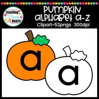 Pumpkin Alphabet a-z Clipart