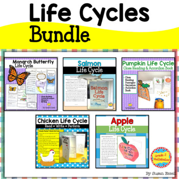 Pumpkin, Apple, Chicken, Salmon and Monarch Butterfly Life Cycle Bundle