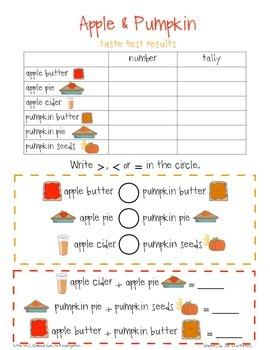 Pumpkin & Apple Tasting Math