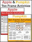 Pumpkin & Apples Ten Frame Activities (1-20)  Bundle