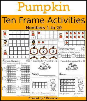 Pumpkin & Apples Ten Frame Activities (1-20)  Bundle