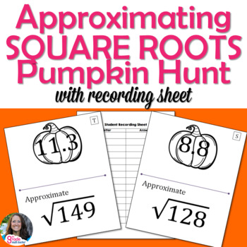 Pumpkin Approximating Square Roots Scavenger Hunt Activity