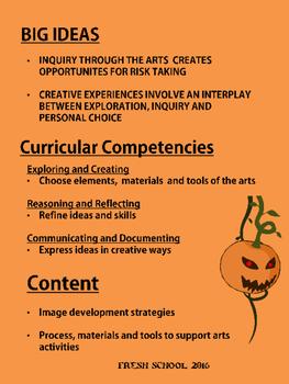 Halloween Art Inquiry - Fall 2016