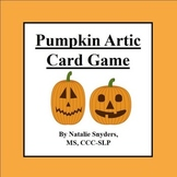 Pumpkin Articulation Card Game (TH, L, S Blends, K, G, CH, & SH) Speech Therapy