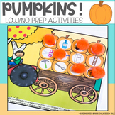 Pumpkin Articulation and Language Low/No Prep Speech Therapy Activities