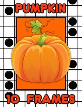 Pumpkin Autumn 10 Frame Math Activity