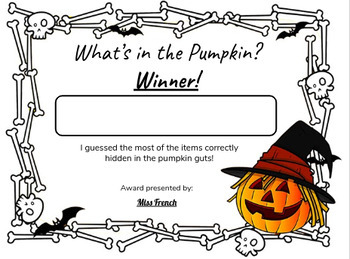 Pumpkin Awards