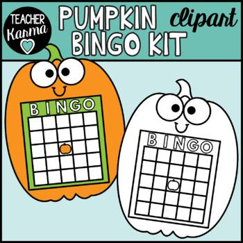 Pumpkin BINGO Clipart Kit
