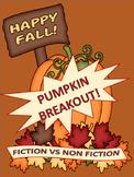 Pumpkin BREAKOUT! Fiction VS Nonfiction Challenge