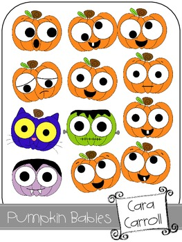 Pumpkin Babies {Clipart for Personal & Commercial Use}
