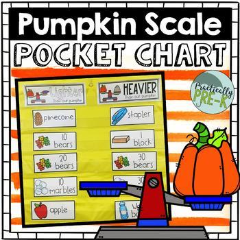 Pumpkin Balance Scale Experiment: Pocket Chart Results
