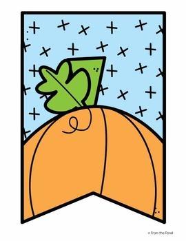 Pumpkin Banner Set {Grow Your Mind Like a Pumpkin}