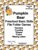 Pumpkin Bear Basic Skill File Folder Games