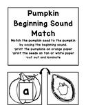Pumpkin Beginning Sound Match