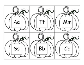 Pumpkin Beginning Sound Match - Common Core