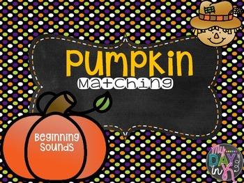 Pumpkin Beginning Sound Matching