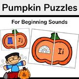 Pumpkin Beginning Sounds Matching Activity