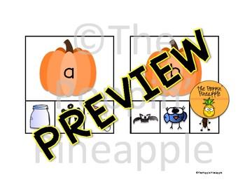 Pumpkin Beginning Sounds Picture Match