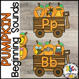 Pumpkin Beginning Sounds Sort Activity