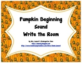 Pumpkin Beginning Sounds Write the Room