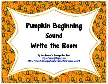 Pumpkin Beginning Sounds Write the Room