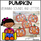 Pumpkin Beginning Sounds and Letters