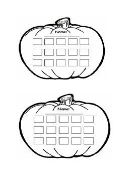 Pumpkin Behavior Incentive Sticker Chart