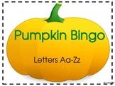 Pumpkin Bingo Letters-Fall, Halloween or Thanksgiving