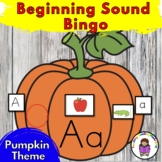 Pumpkin Bingo - Reinforce beginning sounds/phonics- Kinder
