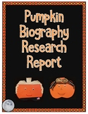 Pumpkin Biography Research Report