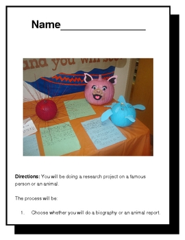 """Pumpkin"" Biography or Animal Report"