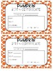Pumpkin Birth Certificate Fall Activity