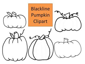 Pumpkin Blackline Clipart by Learning 4 Keeps Design!