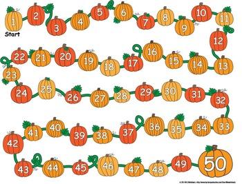 Pumpkin Fall Board Game Template