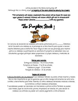 Pumpkin Book Character